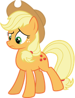 Applejack: 'What the hay?' by thatguy1945