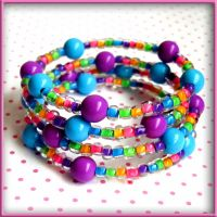 Carnival Colors Rave Bracelet by wickedland