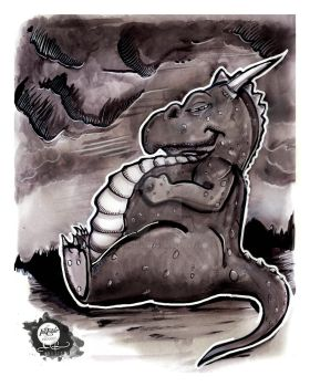 Inktober | 20171016 | Fat - Dragon by CarterPhotography