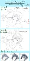 Step by Step -  How your color Manga ^^ by LadyBlackKill