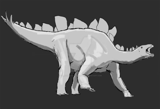 Dinovember Day 21: Stegosaurus Stenops WIP by XStreamChaosOfficial