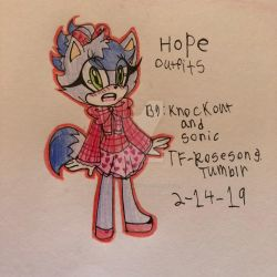 Valentine outfit for Hope  by knockoutandsonic
