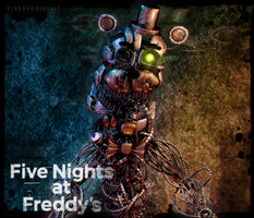 C4D|FFPS|Poster|Molten Freddy by YinyangGio1987