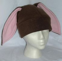 Brown Bunny Hat - Flip Down by kittyhats