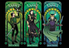 All our Art Nouveau Lokis by StudioKawaii