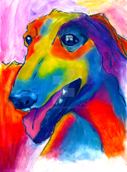 Borzoi (top 15 dog breeds) by JulieRaven