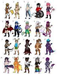 -OPEN!!!- Male Fantasy Adopts! by Soul-Orange-Adopts