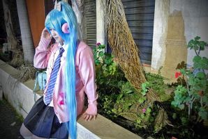 Ribbon Girl Miku - Vocaloid Project DIVA-f by angelaalee