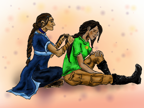 The Girls with the Braids and Tokens by EmilyElfwing