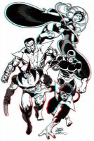Classic X-Men by Byrne 3D Anaglyph by xmancyclops