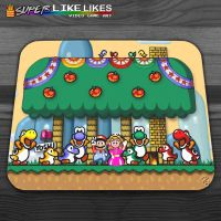 Super Mario World Mousepad by likelikes