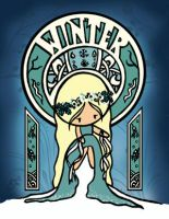 Art Nouveau WINTER by cippow25