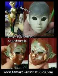 MYTH-BABIES BJD: New Eyes and Ears on Garyn by briescha