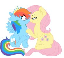 Flutters and Dashie by KittyShy