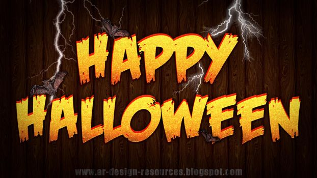 Halloween Text Effect by FakeFebruary