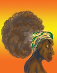 Afro Lady by shelWonder