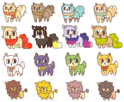REDUCED PRICES - doge point adopts. OPEN by b-lla