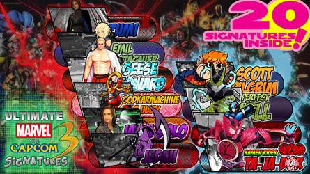 Ultimate Marvel vs Capcom 3 Signatures (20 Items) by usetheforcehan