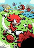 Knuckles Mania (Contest Entry) by DiegoMends