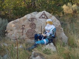 Sheik resting - Link is late... by VFire