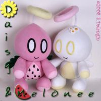 Melonee and Daisy Chao plush by BriteWingz