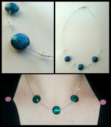 Three Blue Beads by AntarcticDreamer
