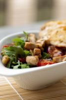 Arugula Salad with Grilled Chicken by bfrena