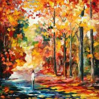 Fall Attraction by Leonid Afremov by Leonidafremov
