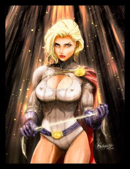 The Power of Power Girl by TheBurnCycle