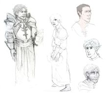Dragon Age RP sketches by mygoodrabbit