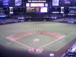 Chase Field, behind home plate by RoxyRoo