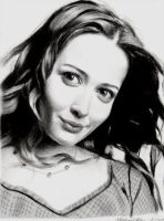 Amy Acker by MikeRobinsArt