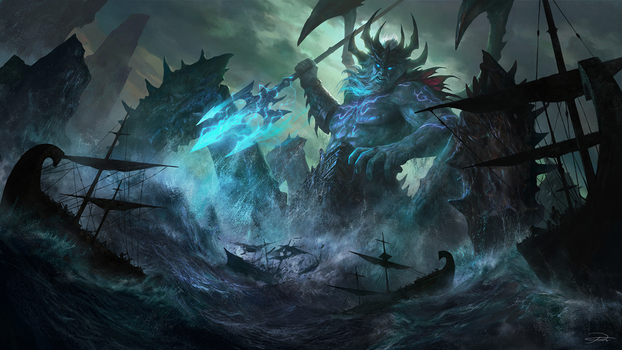 NetEase Game_Poseidon illustration by yinyuming