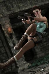 Gina as classic Lara Croft 2 by FranPHolland
