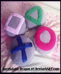 *Re-Upload* Commisison: PlayStation Cushions by Sarasaland-Dragon