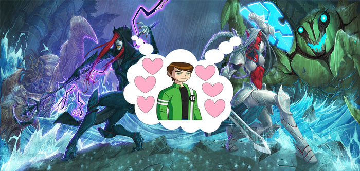Ben 10 With AIVENNA AND NIVENNA by crossover-619