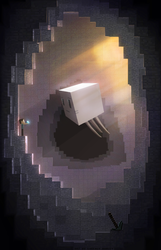 Cubic cave | Minecraft by TakeOFFFLy