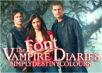 The Vampire Diaries Font BOOK by SimplyDestinyColours