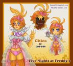 Chica the Chick-a-dee by Enock