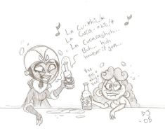Maria and Voltura Out Drinking by onlyxsfan
