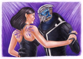 Eli Shepard and Garrus Vakarian by LeilaAscariz