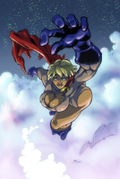 Power Girl Reach For The Stars by Abt-Nihil