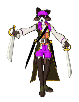 Morgan Lafitte coloring page by CrispyWyvern