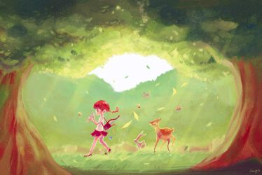 Forest Morning by amy30535