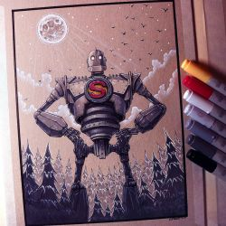 The Iron Giant - Drawing by LethalChris