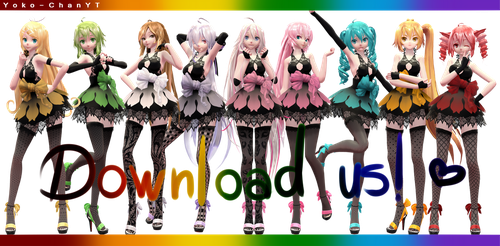 xX MMD Xx TDA Ladies Pack + DL! Thanks for 200+ by Yoko-ChanYT