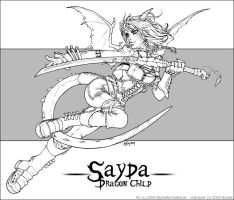 Sayda - Line Art by MichelleHoefener