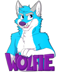 COM- Wolfie Badge by Asp3ll