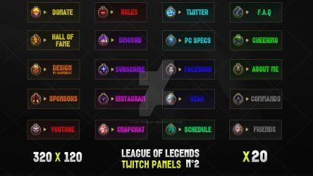 League Of Legends - Twitch Panels #2 by lol0verlay
