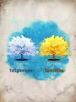 Telperion and Laurelin by Aglargon